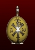 1egg: Russian silver and enamel miniature - Easter egg pendant. Sold