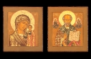2008m: The Mother of God of Kazan and St. Nicholas the miracle-worker. SOLD